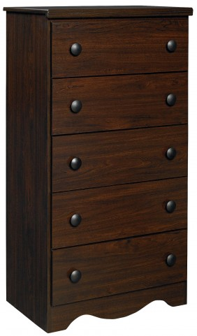 Factory Select Dark Coffee 5 Drawer Chest