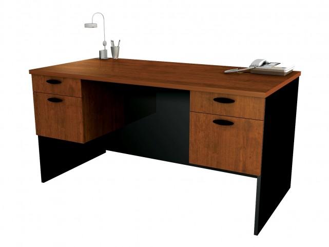 Hampton Executive Desk In Tucany Brown & Black