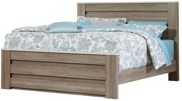 Stonehill Weathered Oak Queen Poster Mansion Bed