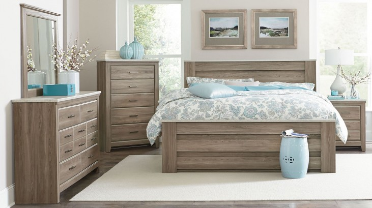 Stonehill Weathered Oak Poster Mansion Bedroom Set