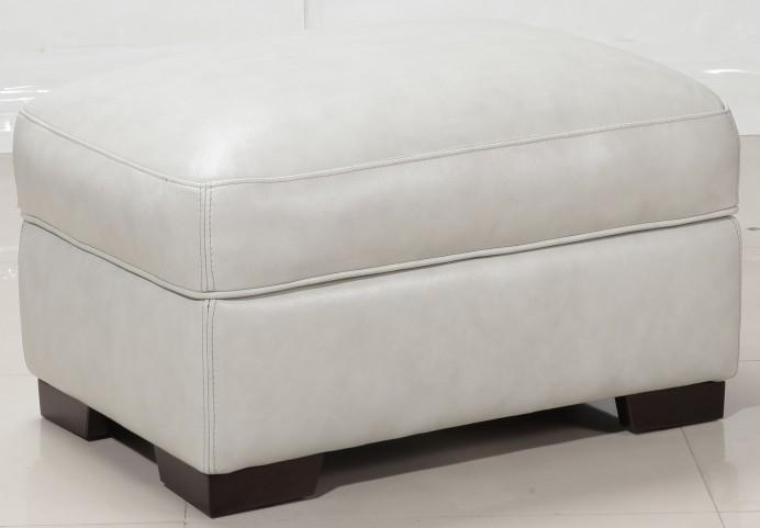 Alpha White Storage Ottoman