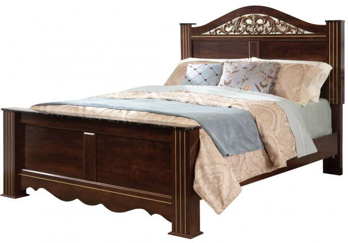 Odessa Cherry King Poster Bed