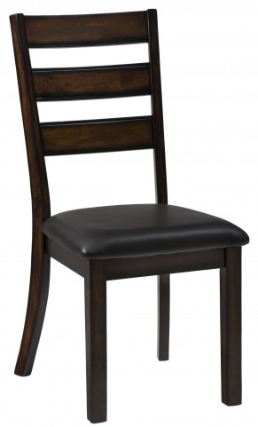 Baroque Brown Upholstered Slat Back Dining Chair Set of 2