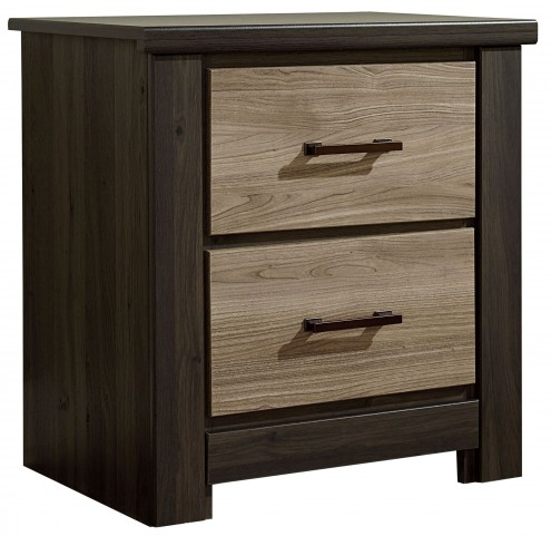 Oakland Smoky Brown And Grayed Birch 2 Drawer Nightstand