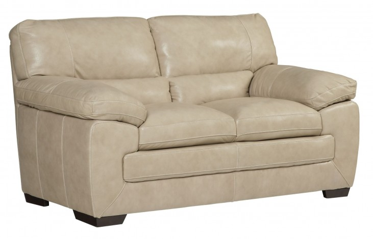 Biscayne White Loveseat