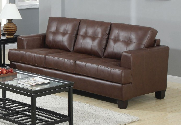 Samuel Dark Brown Sofa