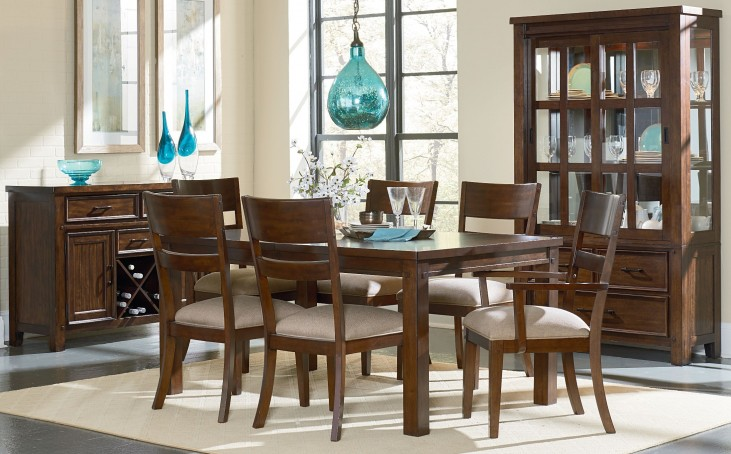 Cameron Golden Tobacco Brown Extendable Leg Dining Room Set