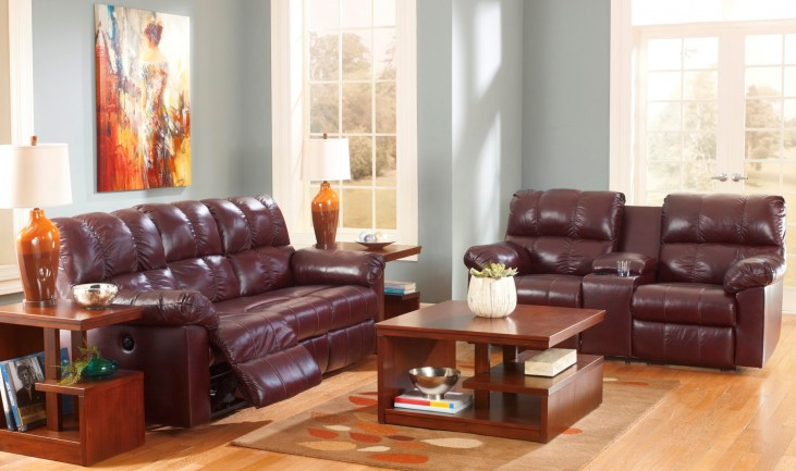 Kennard Burgundy Power Living Room Set