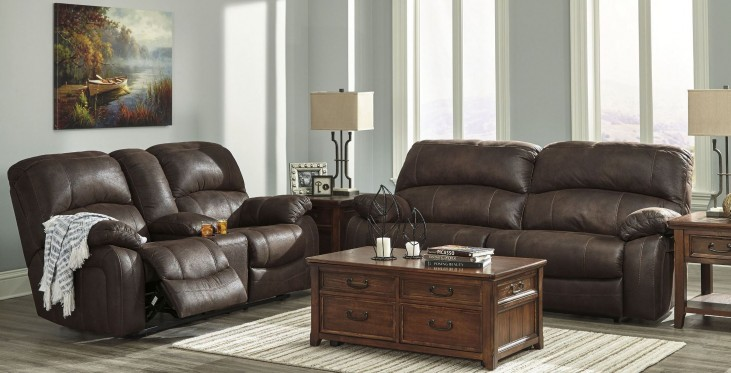 Zavier Truffle 2 Seat Power Reclining Living Room Set