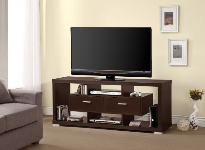 700112 Cappuccino Storage Tv Console