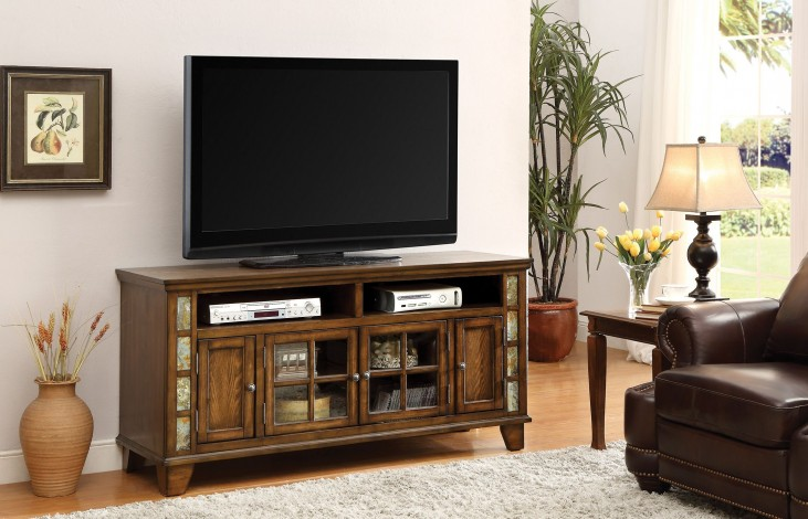 Honey Brown TV Console