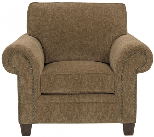 Travis Walnut Chenille Fabric Chair