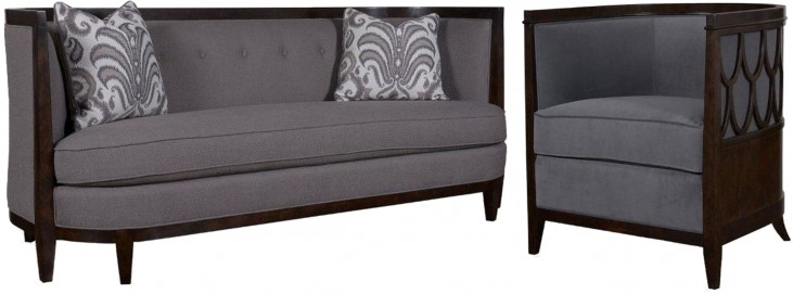 Morgan Charcoal Living Room Set