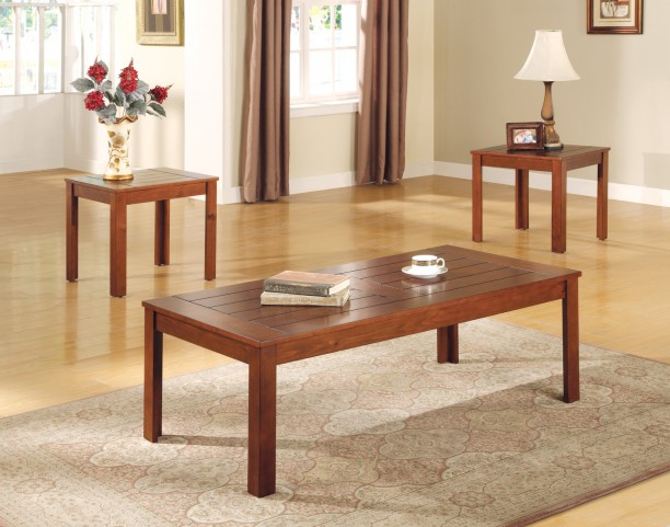 700570 3 Piece Occasional Table Set With Pine Veneers