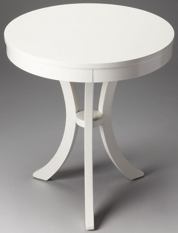 Gerard Loft Glossy White Side Table