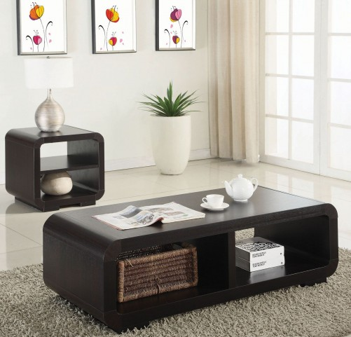 Cappuccino 2 Piece Occasional Table Set