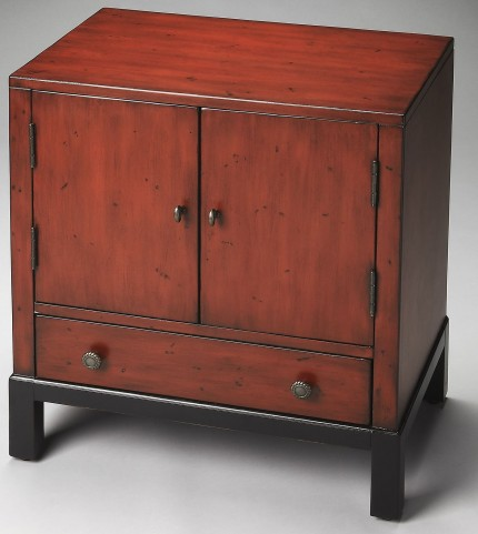 Artists Originals Courtland Distressed Red Accent Cabinet