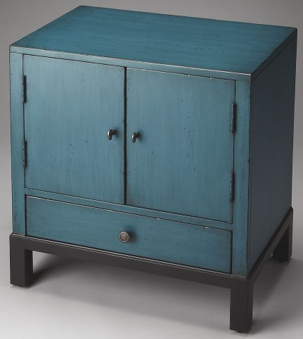 Courtland Artists' Originals Distressed Blue Accent Cabinet