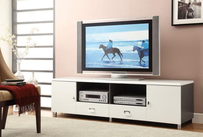 700910 White Tv Console