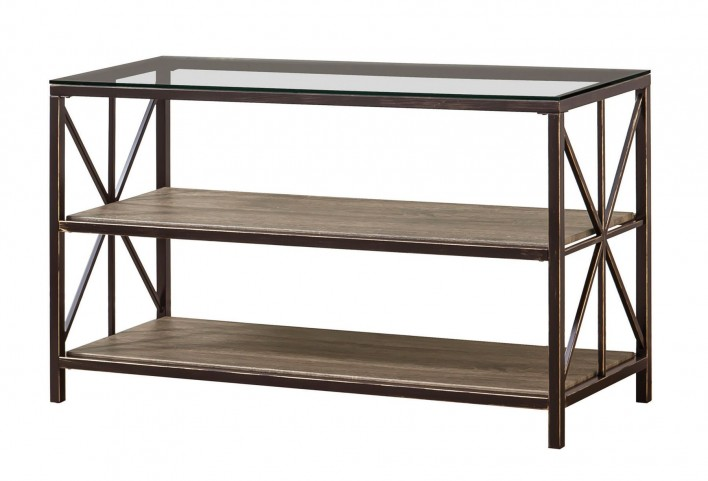 Avondale Metal & Glass Sofa Table