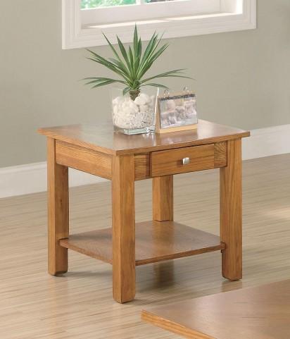 Oak End Table 701437
