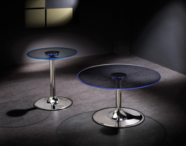 LED Chrome Occasional Table Set 7014