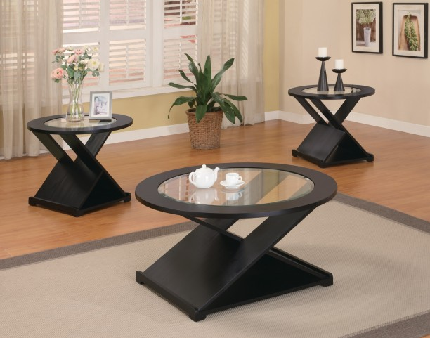 3 Piece Round Occasional Table Set - 701501