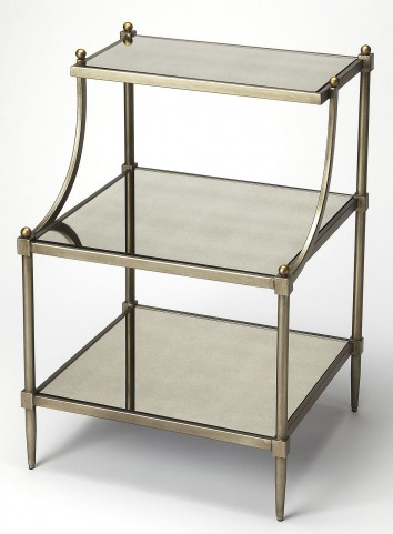 Butler Loft Mirrored Tiered Side Table