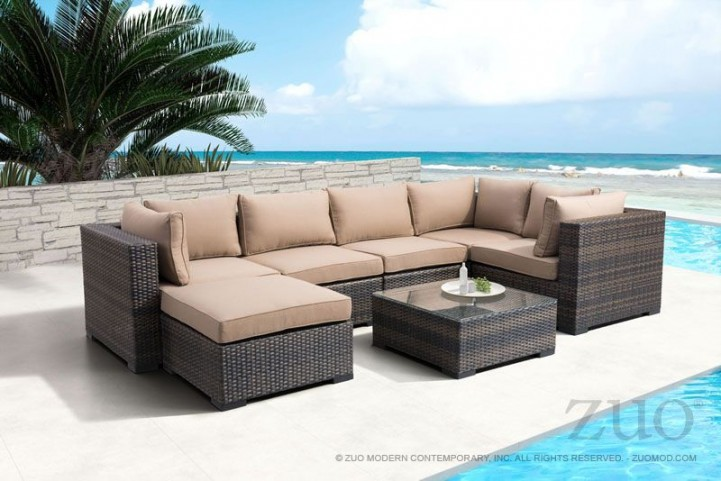 Bocagrande  Brown & Beige Sectional