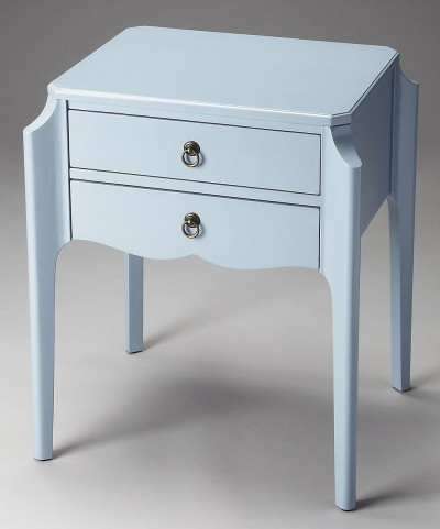 Butler Loft Wilshire Glossy Wedgewood Accent Table