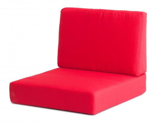 Cosmopolitan Red Armchair Cushions
