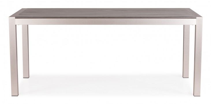 Metropolitan Brushed Aluminum Dining Table