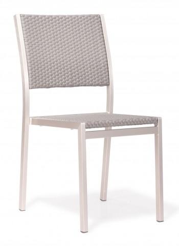 Metropolitan Brushed Aluminum Dining Chair Set of 2