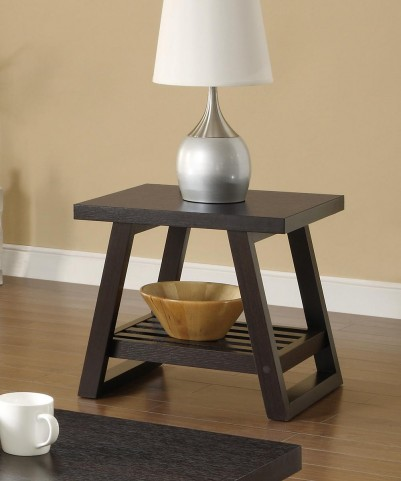 Cappuccino End Table 701867