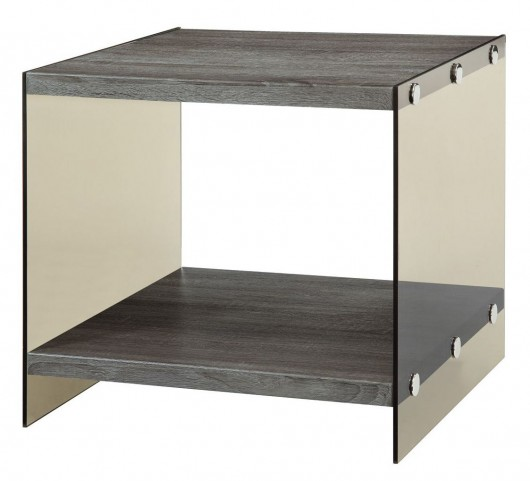 701967 Glass Sides End Table
