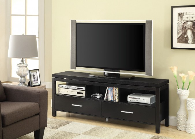 701970 Black Storage TV Console