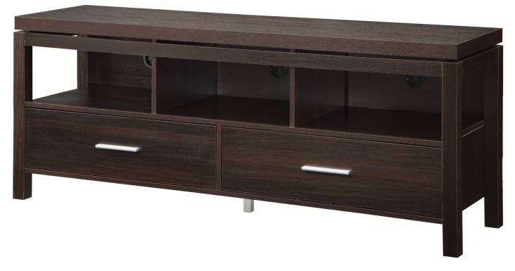 701971 Dark Brown Storage TV Console
