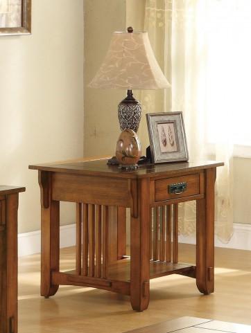 Oak End Table 702007