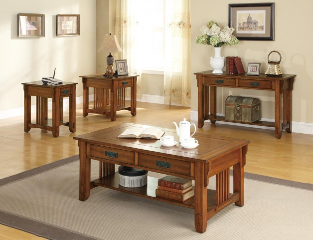 Oak Occasional Table Set 7020