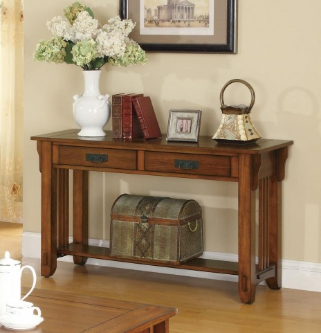 Oak Chairside Table 702009