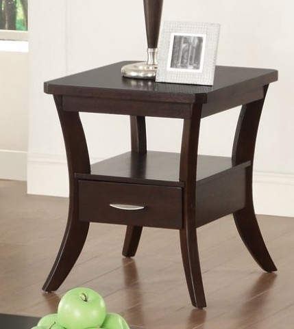 702507 Espresso End Table