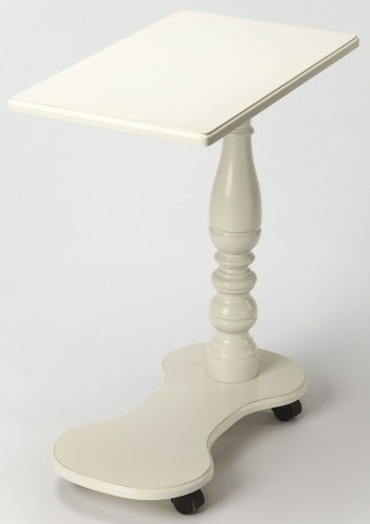 Mabry Cottage White Mobile Tray Table