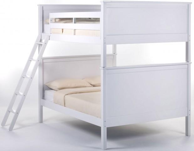 School House White Casey Full Over Full Bunk Bed