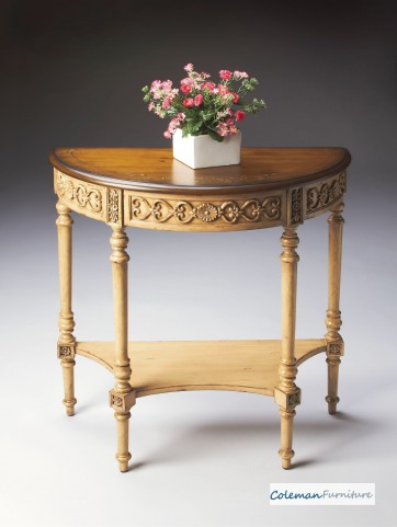 Pine n' Cream 7027166 Demilune Console Table