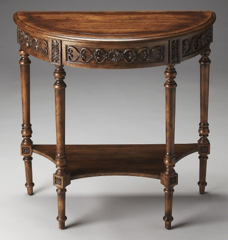 Masterpiece Danelle Dark Toffee Demilune Console Table