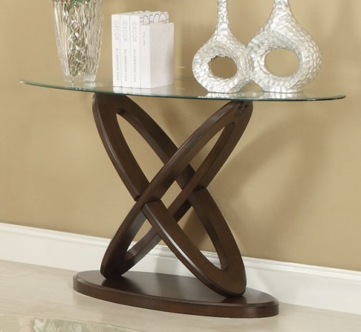702789 Espresso Sofa Table
