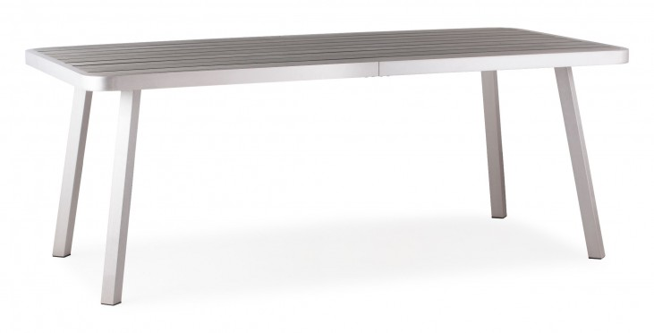 Township Brushed Aluminum Long Dining Table