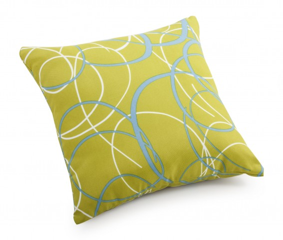 Bunny Olive Green base Small Pillow with pattern