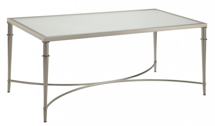 703348 Satin Nickel Coffee Table