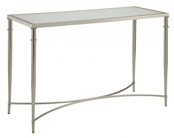 703349 Satin Nickel Sofa Table